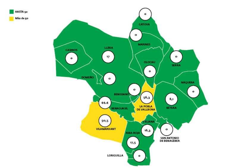 Mapa de octubre de Covid. EPDA.