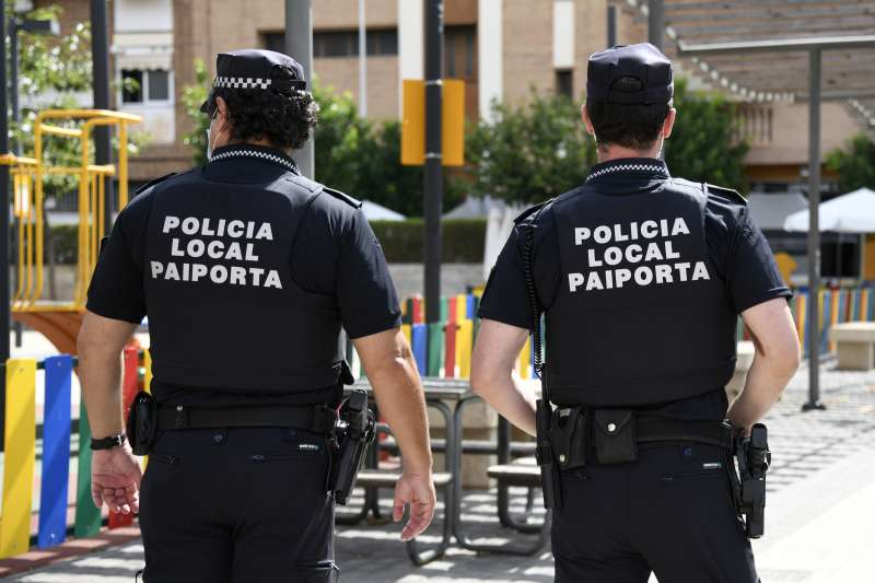 Dos policías de Paiporta. EPDA
