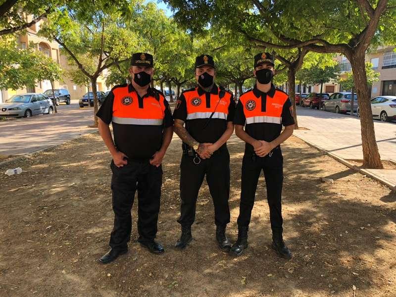 Membres de Protecció Civil de La Pobla de Farnals. EPDA