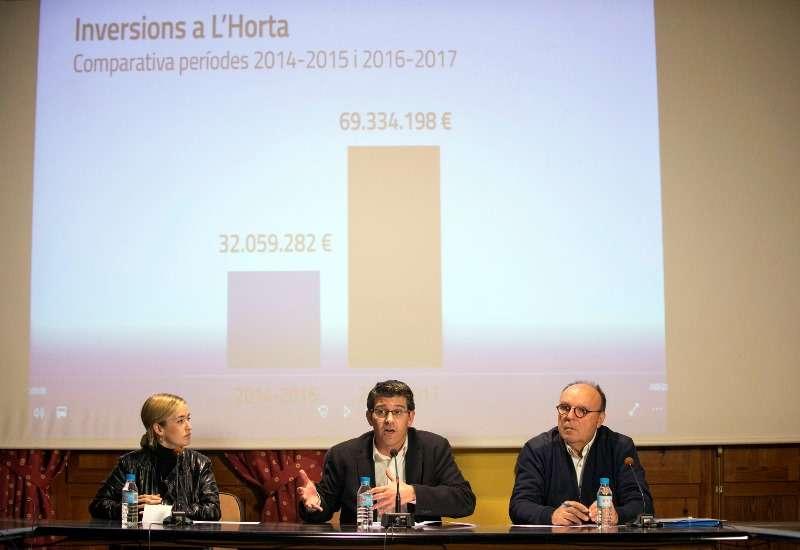 Rodríguez interviene en la rueda de prensa en Vinalesa. EPDA