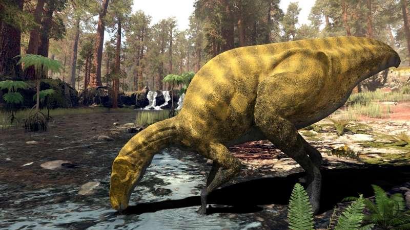 Imagen recreación del Portellsaurus sosbaynati.