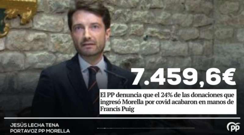 Jesús Lecha, portavoz del PP en Morella. EPDA