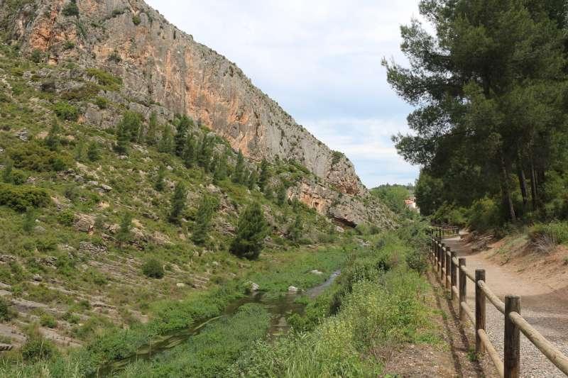 El río Palancia por la Vuelta de la Hoz de Jérica
