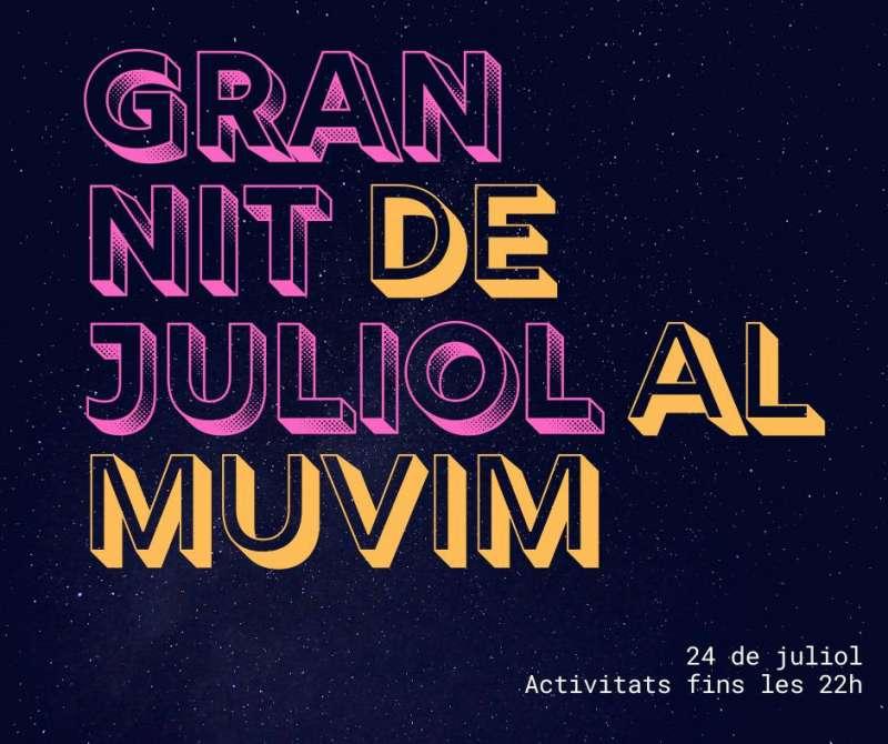 Cartell del MuVIM per la Gran Nit de Juliol.