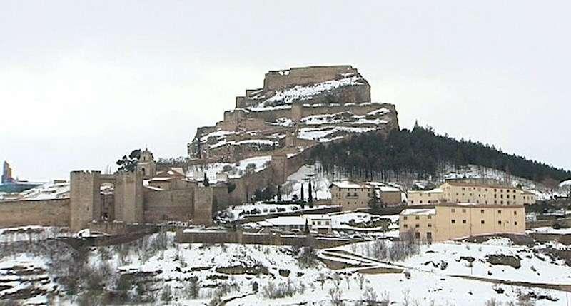 Imagen de Morella nevada hace unos años.EFE/Archivo