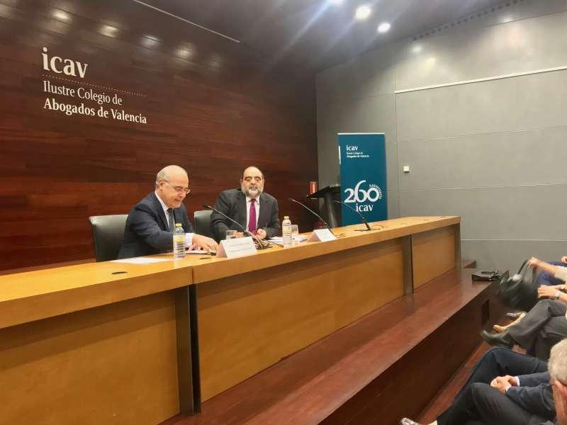 El juez Pablo Llarena durante la conferencia