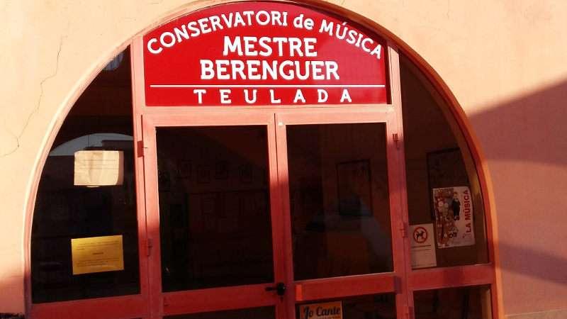 Entrada del Conservatori Professional de Música ?Mestre Berenguer? de Teulada