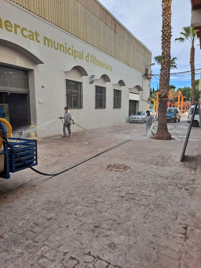 Desinfección en Almenara