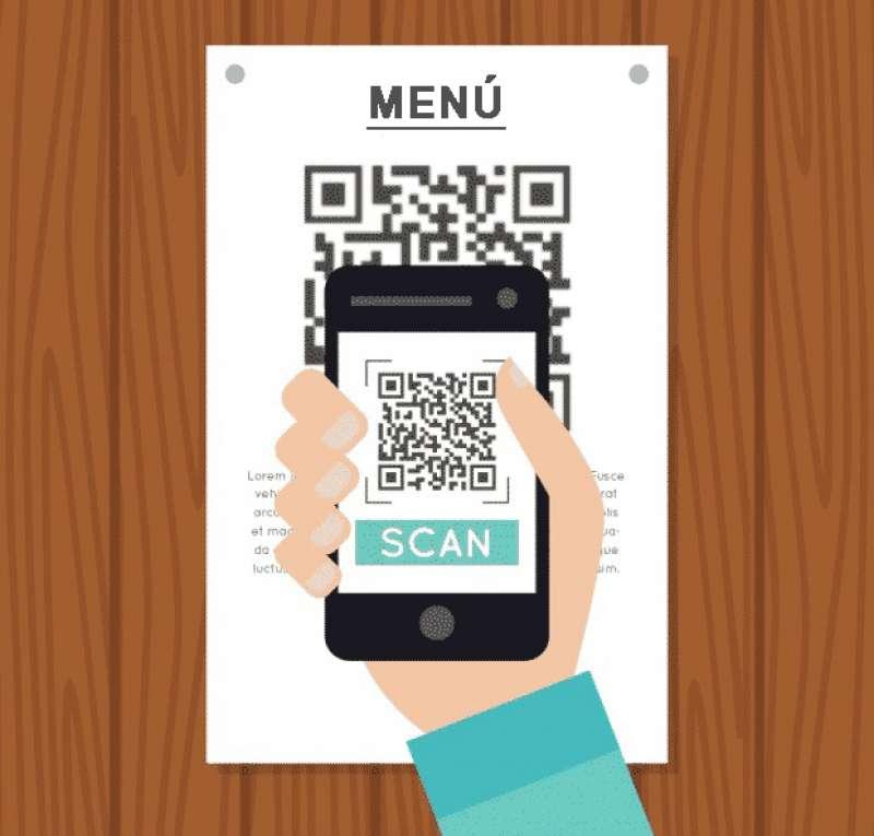 Código QR para leer con el móvil menús y cartas de restaurantes. / EPDA