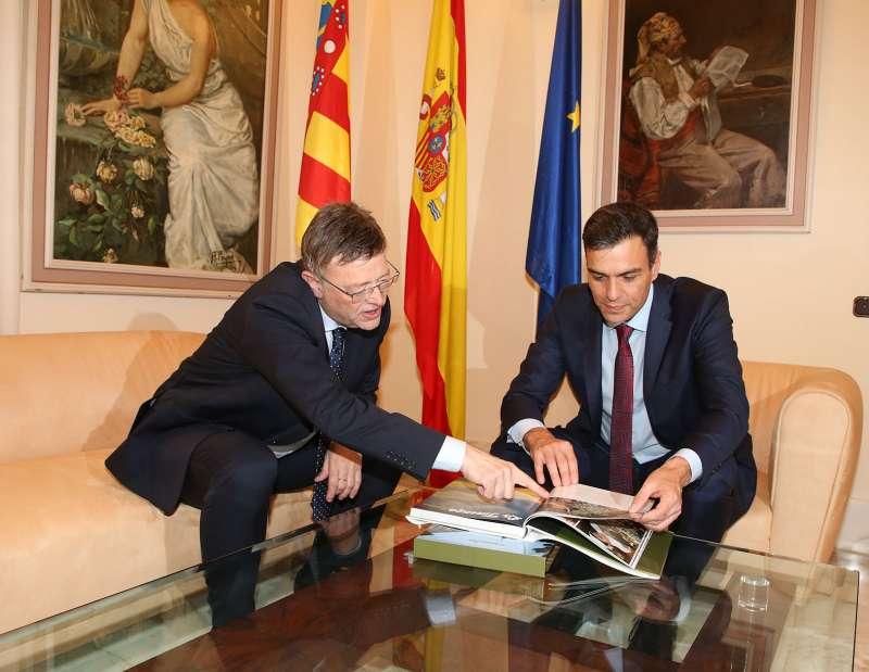 Ximo Puig y Pedro Sánchez en Castellón.