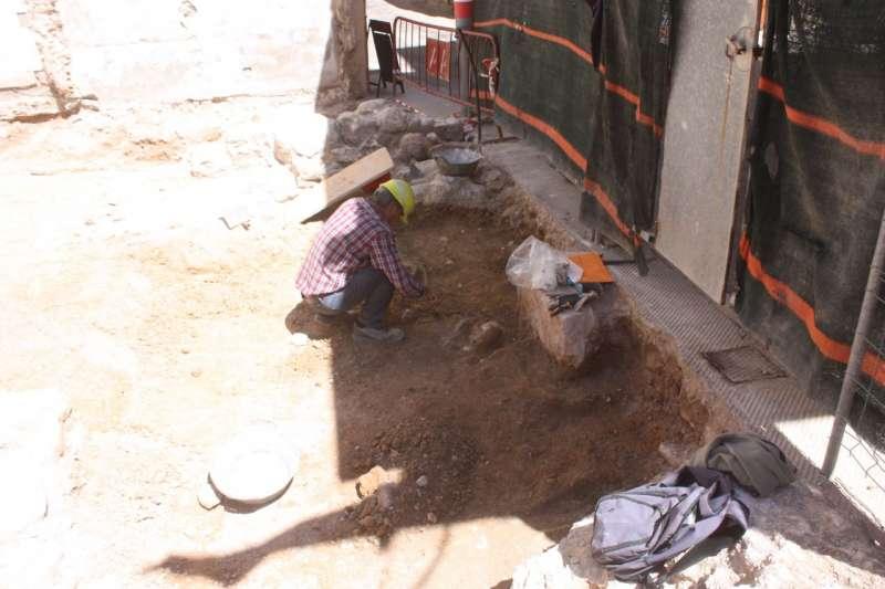 Trabajos en el enterramiento