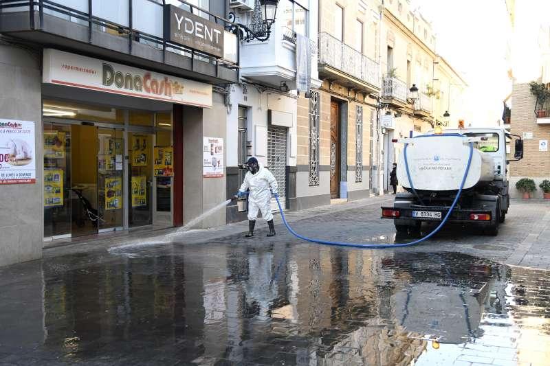 Treballs de desinfecció a Paiporta