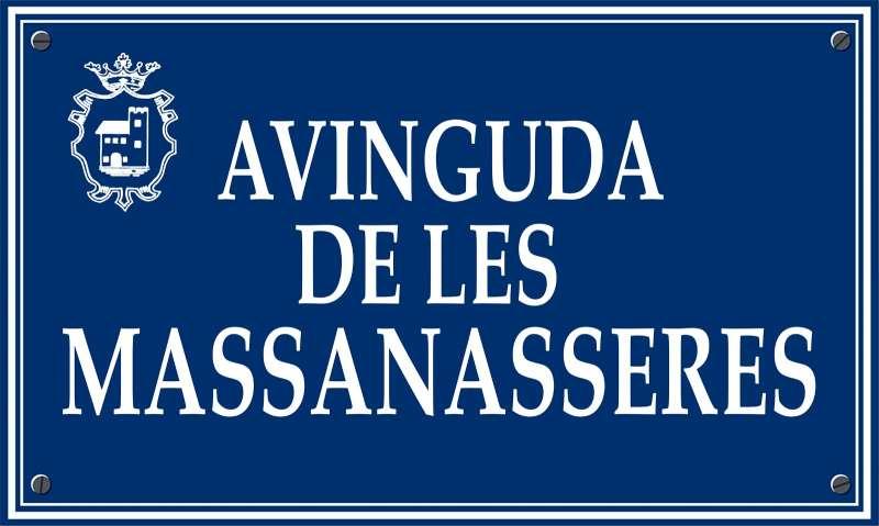 Placa de la calle propuesta