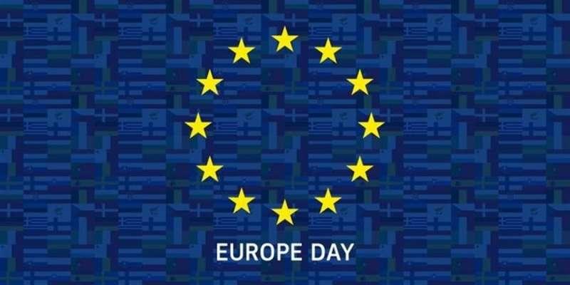 Logo de la conmemoración del Día de Europa.