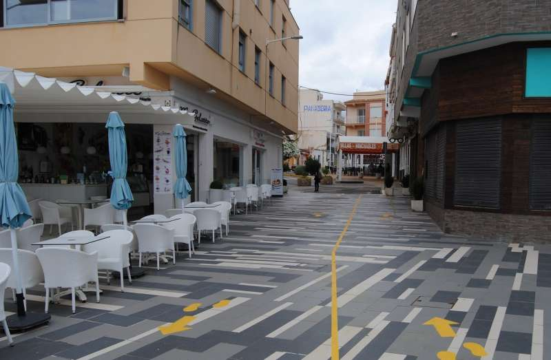 Vía publica de Alcalà-Alcossebre