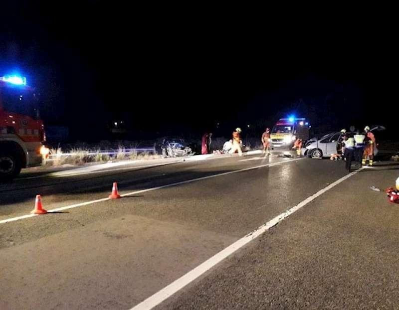 Accidente en la CV50 en Alzira (Valencia) - CONSORCIO PROVINCAL BOMBEROS VALENCIA