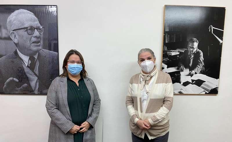 Ruth Sanz y Teresa Álvarez nieta de Max Aub