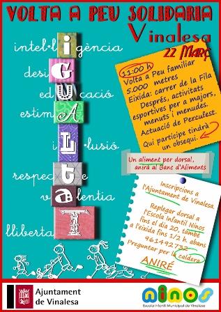 Cartel de la Volta a Peu Solidaria. EPDA