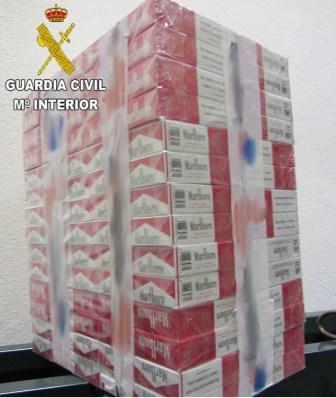 Imagen de la Guardia Civil de las cajetillas incautadas.