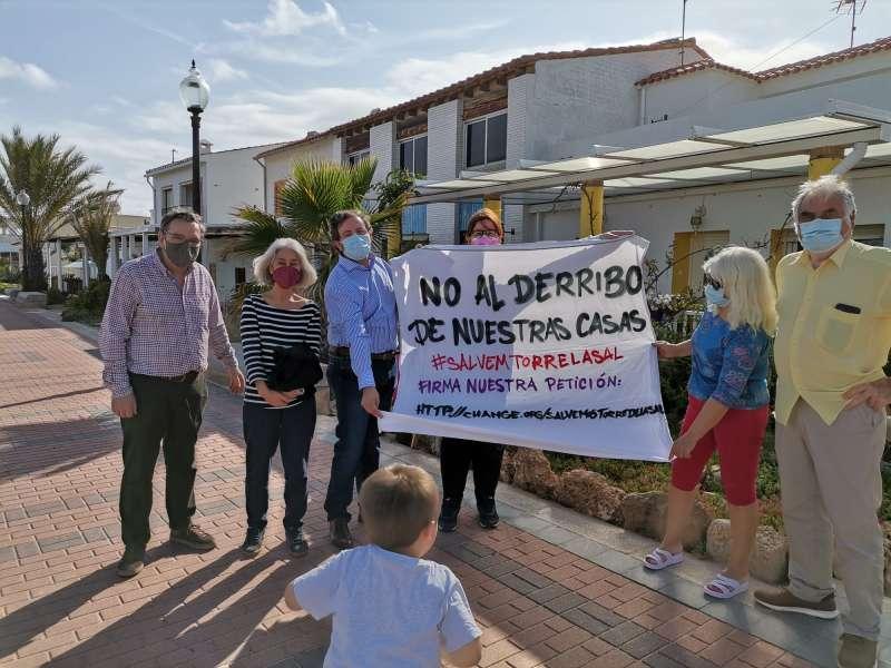 Protesta a Torre la Sal. EPDA