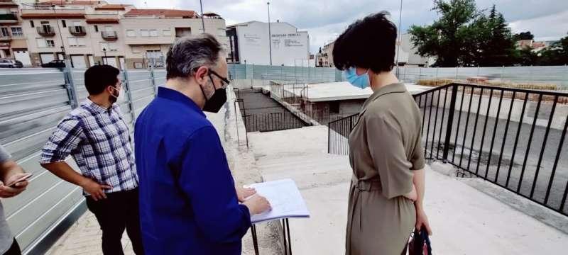 Cristina Lozano en la recepción de las obras