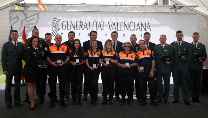 Puig agradece a las fuerzas de seguridad su esfuerzo y sus valores de