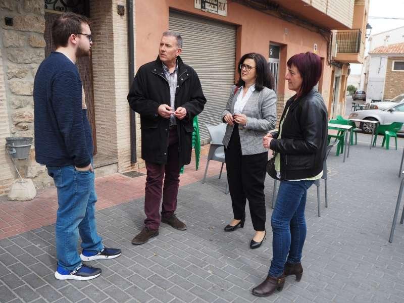 Miguel Clemente con diputados provinciales