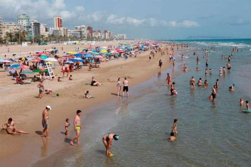 La playa de Gandia en una imagen de archivo. EFE/Natxo Francés./ EPDA