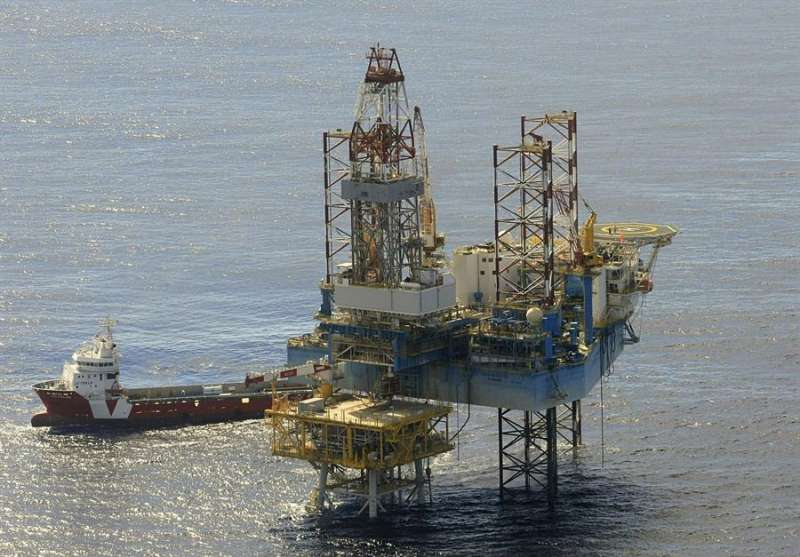 Imagen de archivo de la plataforma del almacén subterráneo de gas natural del Proyecto Castor, situado a 22 kilómetros de la costa de Vinaròs (Castellón). EFE