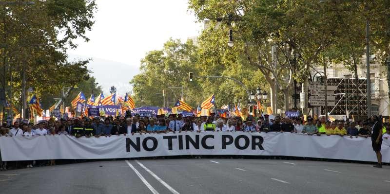 Manifestación celebrada en la tarde del sábado en Barcelona.