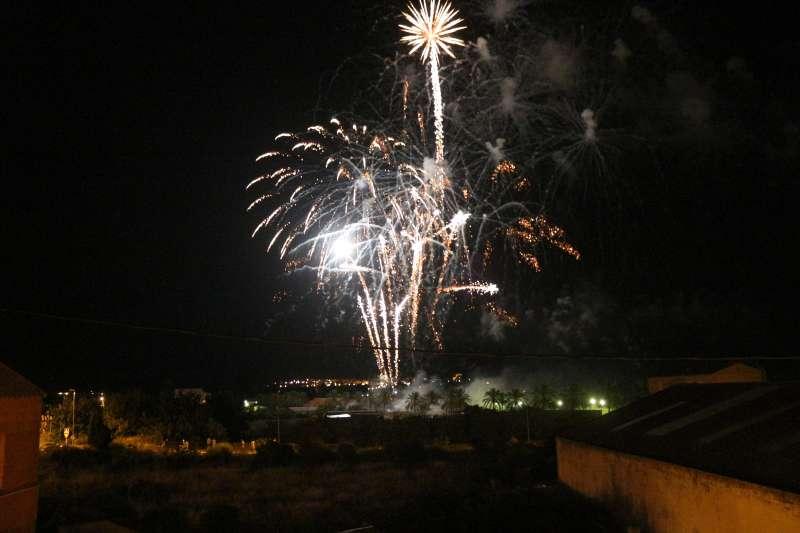 Castillo del fin de fiestas en Segorbe
