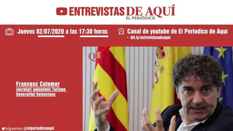 Colomer hablará de la temporada de turismo en la Comunitat Valenciana.