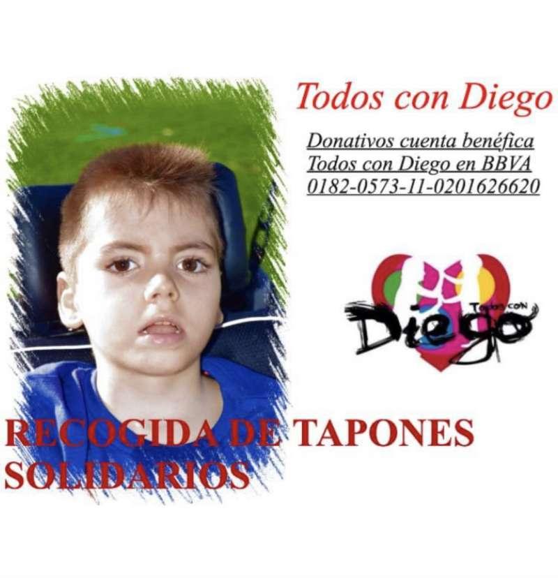 Recogida de tapones para Diego. / EPDA