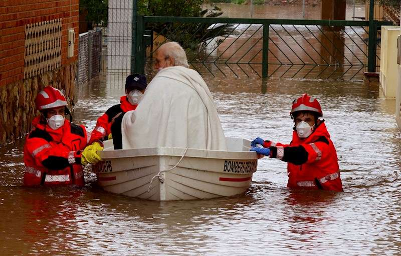 La provincia de Castellón ha batido el récord de precipitación acumulada en 24 horas. EFE