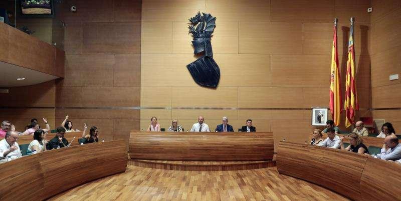 Pleno de la Diputación de València. EFE/Archivo