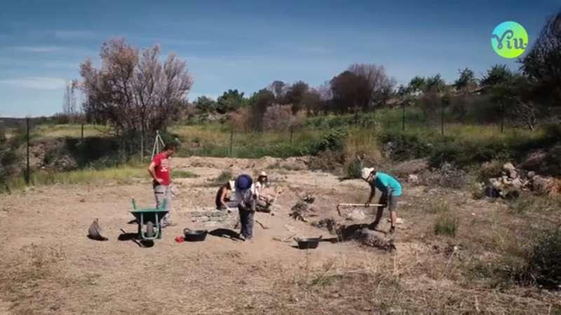 Excavaciones en la villa romana de Viver
