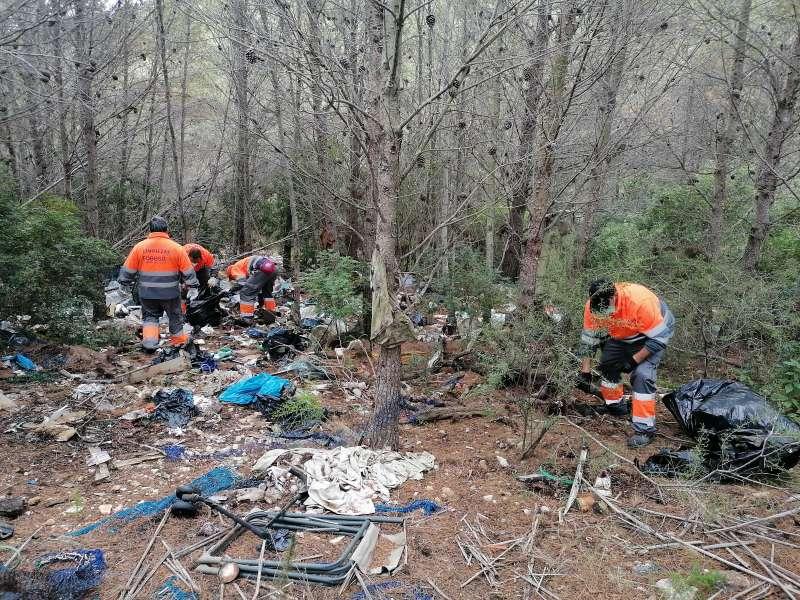 Limpieza en la Serra de Irta. / Prensa Peñíscola