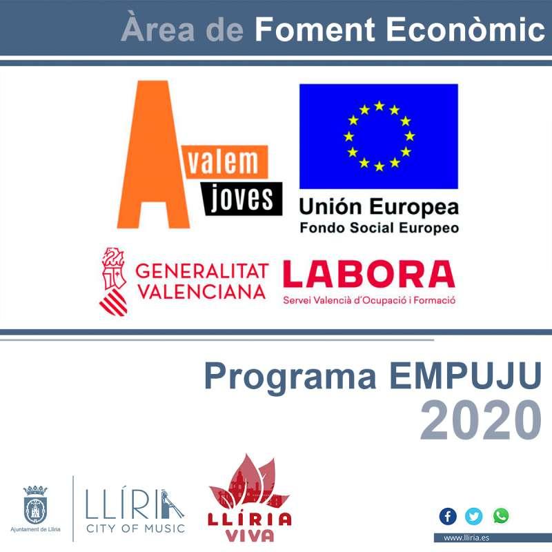 Cartel del programa de EMPUJU. / EPDA