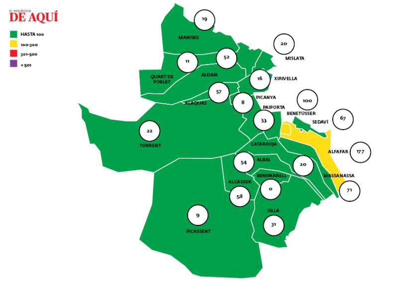 Mapa de incidencia en l