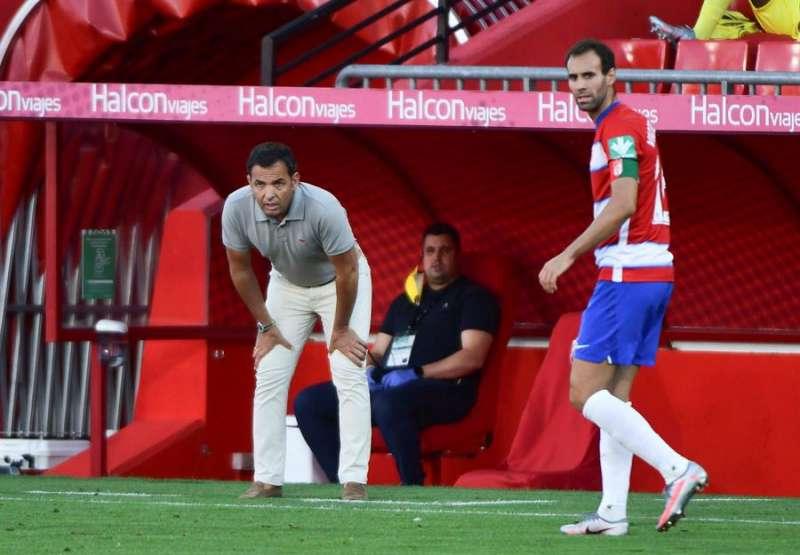 El técnico del Villarreal, Javier Calleja (i), durante un partido de Liga. EFE/Archivo
