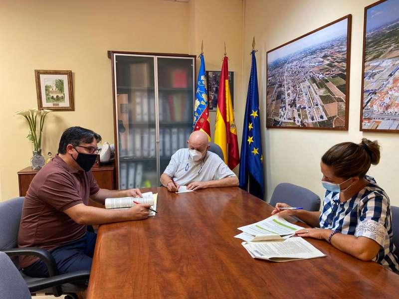 Reunión en el Ayuntamiento de Museros. EPDA