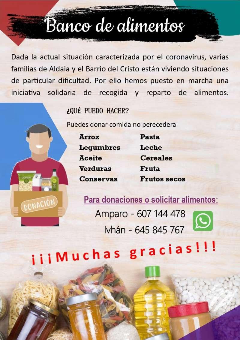 Cartel informativo sobre EL banco de alimentos. / EPDA