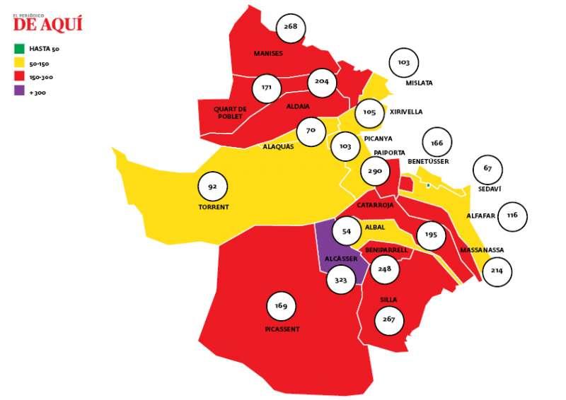 Mapa de incidencia. EPDA