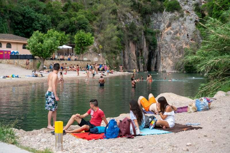 El río Mijares a su paso por la Fuente de los Baños