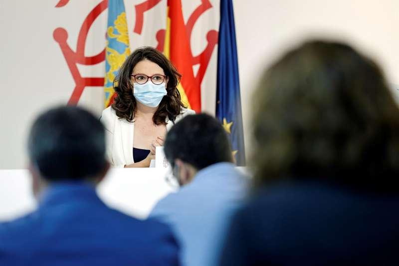 La vicepresidenta y portavoz del Consell, Mónica Oltra. EFE/Biel Aliño