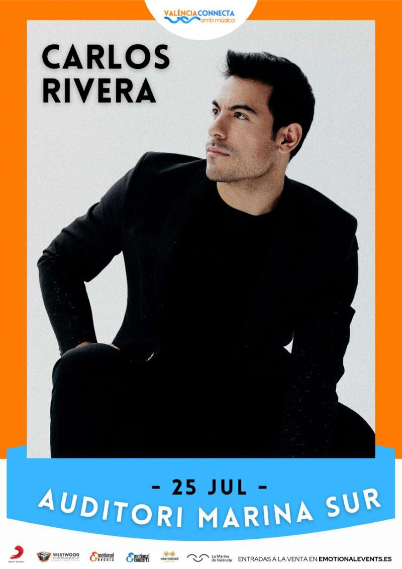 Cartel del concierto de Carlos Rivera en València.